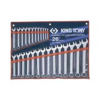 6-32mm Bộ vòng miệng 26 cái hệ mét Kingtony 1226MR