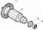 Rotor máy mài góc GA5010, GA5020, GA6010, GA6020 Makita 513703-2